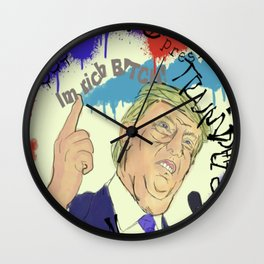 Trump Wall Clock