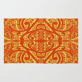 Polynesian inspired Tatau design Rug