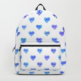 Tiny Blue Heart Polka Dots Backpack