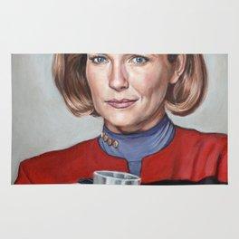 Captain Janeway - Portrait Painting Rug