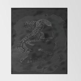 spider man black Throw Blanket