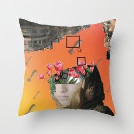 Flower of Syria Throw Pillow