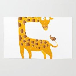 giraffe cartoon Rug