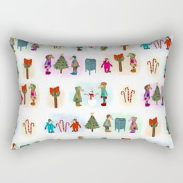 Cozy Kid Unicorns Pattern Rectangular Pillow