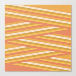 stripey sunny square Canvas Print