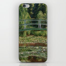 """Claude Monet """"The Japanese Footbridge and the Water Lily Pool, Giverny"""" iPhone Skin"""