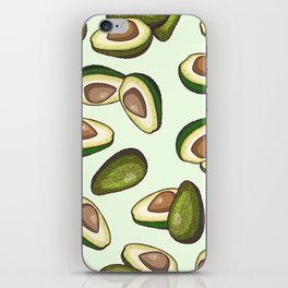 avocado pattern iPhone Skin