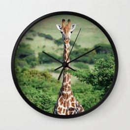 Giraffe Standing tall Wall Clock
