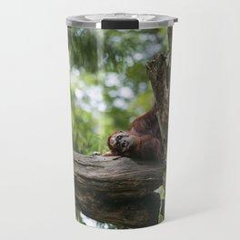 Lazy Orangutan Travel Mug