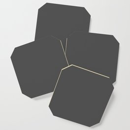 Plain Charcoal Grey to Coordinate with Simply Design Color Palette Coaster