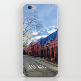 STOP For Brooklyn Heights Brownstone Red Brick Love iPhone Skin