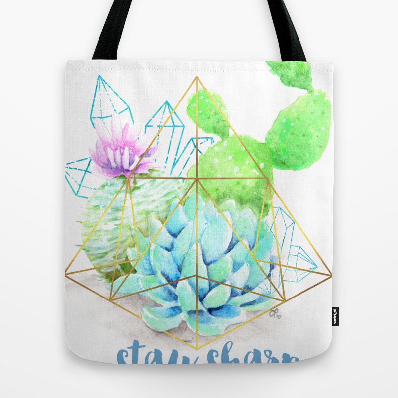 Stay Sharp Motto Tote Bag by Ashleypicanco TBG8788456
