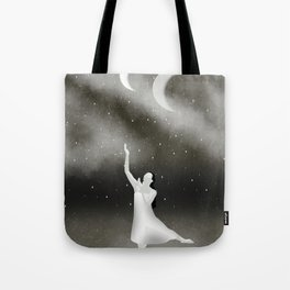 Worshipping the Moon Tote Bag