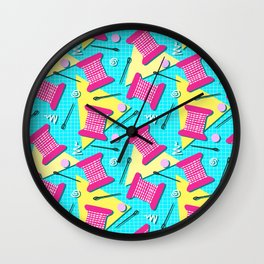 Memphis Sewing - Brights Wall Clock
