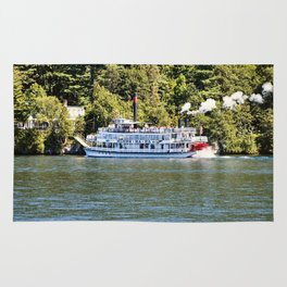 Minne-Ha-Ha Steamboat on Lake George Rug