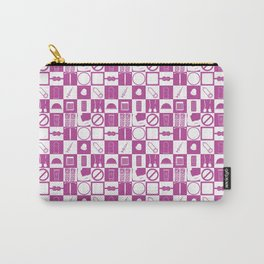 Contraception Pattern (Purple) Carry-All Pouch
