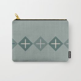 Cross Stitch Green Carry-All Pouch