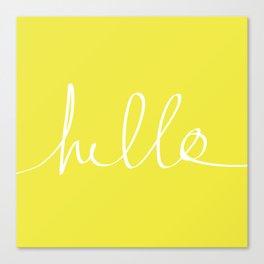 Hello x Sunshine Canvas Print