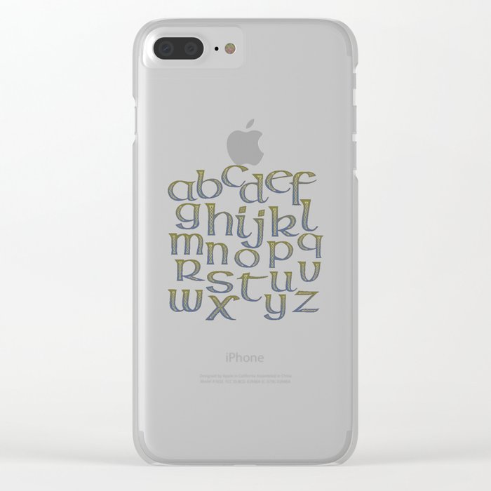 Celtic Knotwork Alphabet - A-Z - Abecedary Clear iPhone Case