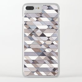 Triangle Pattern no.22 grays Clear iPhone Case