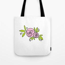 Bright Rose Tote Bag