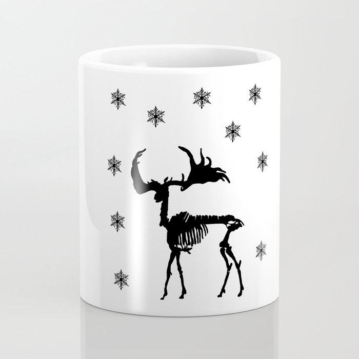Deer skeleton and snow Coffee Mug