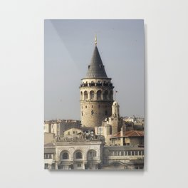 Galata Tower, A historical place in Istanbul Turkey Metal Print