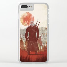 The Witcher Geralt variation print Clear iPhone Case