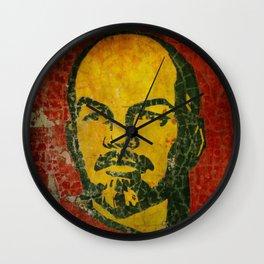 Goodbye Lenin fresco in the ex Soviet military base in Latvia  Wall Clock
