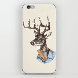 Lucienne the crying deer (with tattoos) iPhone Skin