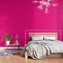 Bright Pink - solid color Wallpaper