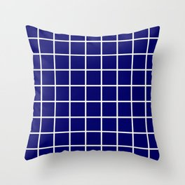 dark blue cube Throw Pillow