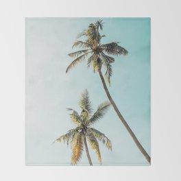 Palm Tree Beach Summer Throw Blanket
