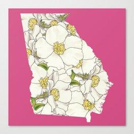 Georgia in Flowers Canvas Print