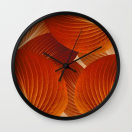 Leaves in Terracotta Color #decor #society6 #buyart Wall Clock
