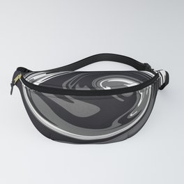 HURRICANE black white and grey swirl abstract design Fanny Pack