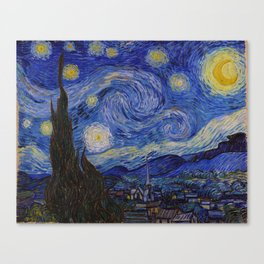 The Starry Night by Vincent van Gogh (1889) Canvas Print