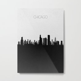 City Skylines: Chicago Metal Print