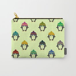 Penguins with colorful beanies Carry-All Pouch