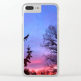 Shades Sunset Clear iPhone Case
