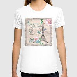 Paris - my love - France Nostalgy - pink French Vintage T-shirt