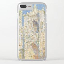 Claude Monet - Rouen Cathedral, West Façade, Sunlight Clear iPhone Case