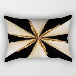 Black, White and Gold Star Rectangular Pillow