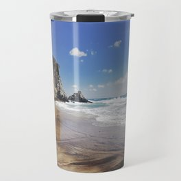 Barronal beach. Waves retro Travel Mug
