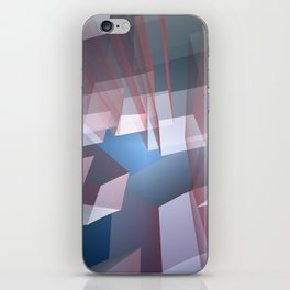 Kissing the sky, geometric fractal abstract iPhone Skin