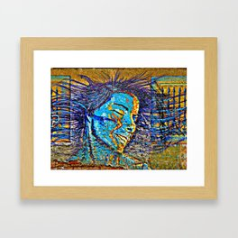 Hair in the wind Framed Art Print