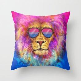 The Bi Lion Pride Throw Pillow