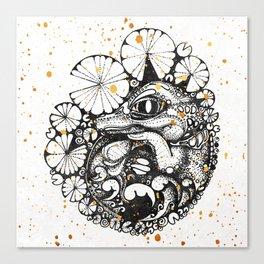 Baby Crocodile Inktober :: I Am The Unborn Canvas Print