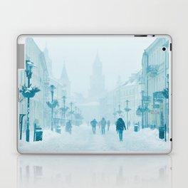 Foggy and snowy day Laptop & iPad Skin