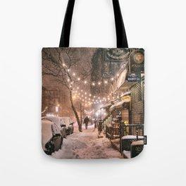Snow - New York City - East Village Tote Bag